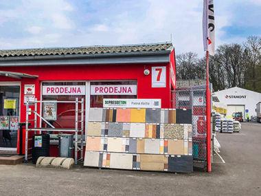 Prodejna stavebnin Stamont v Rychnově nad Kněžnou