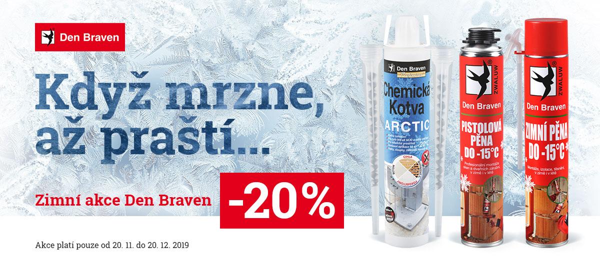 Když mrzne až praští – zimní sleva 20 % Den Braven