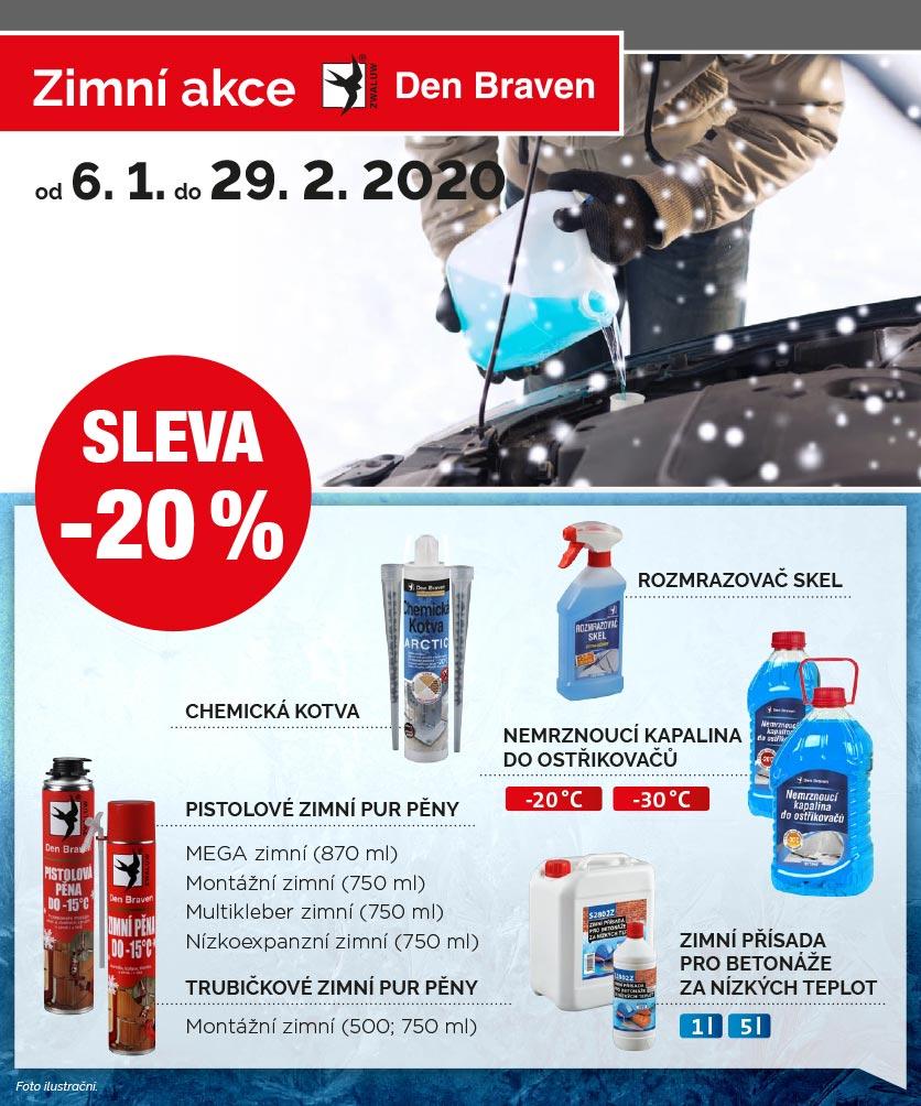 Zimní akce s Den Braven, Stavebniny Náchod, Dobruška, Rychnov nad Kněžnou, Jaroměř