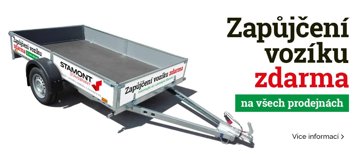 Zapůjčení vozíku zdarma – Stamont stavebniny Rychnov nad Kněžnou, Jaroměř, Náchod, Dobruška
