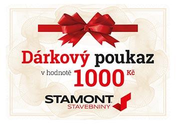 Dárkový poukaz 1000 Kč – Stamont stavebniny