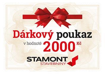 Dárkový poukaz 2000 Kč – Stamont stavebniny