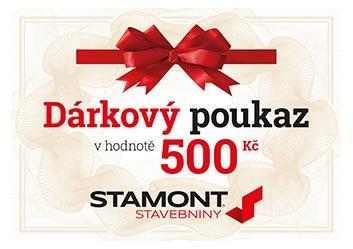 Dárkový poukaz 500 Kč – Stamont stavebniny