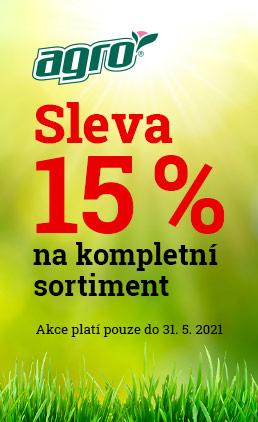 Sleva 15 % na kompletní sortiment Agro
