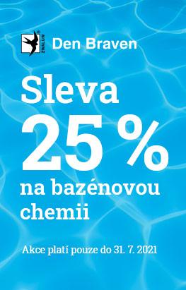 Sleva 25 % na bazénovou chemii Cranit