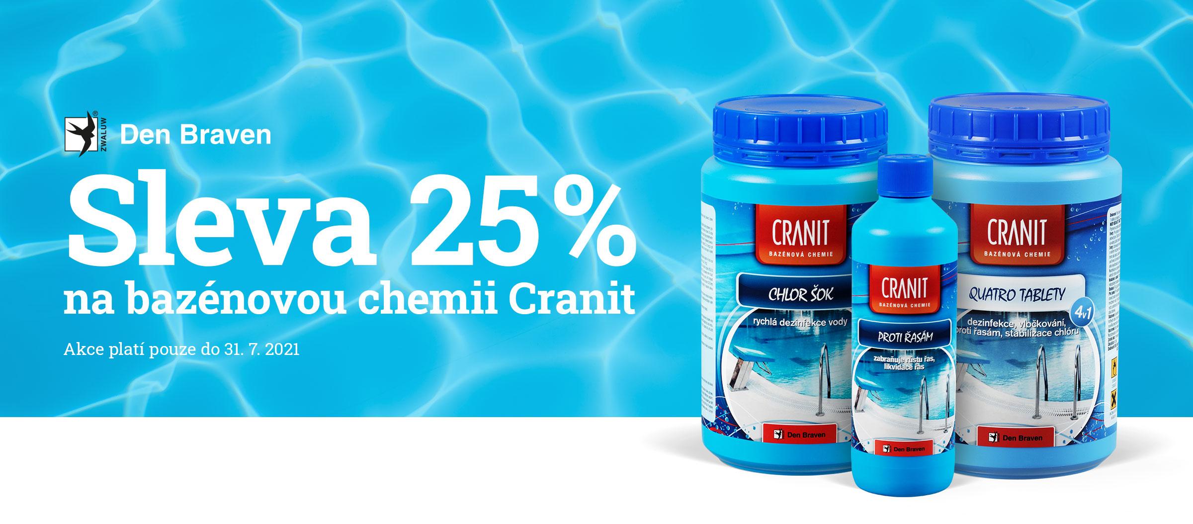 Sleva 25 % na bazénovou chemii – stavebniny Stamont