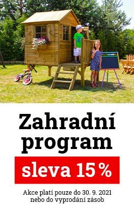Sleva 15 % na zahradní program