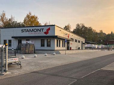 Prodejna stavebnin Stamont v Náchodě